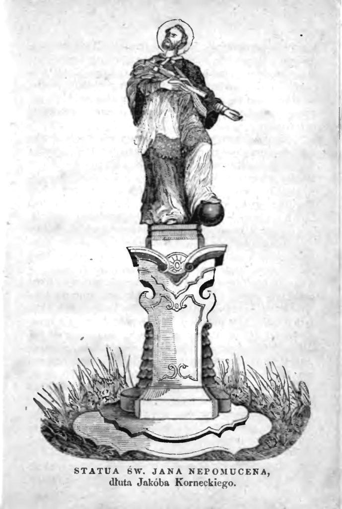 Kielce. Jan Nepomucen w parku miejskim, pierwotnie stał w klasztorze w Jędrzejowie