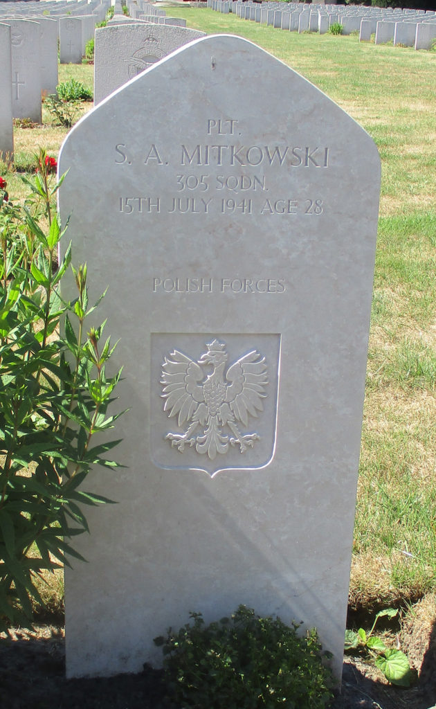 Becklingen. Plutonowy radiooperator Stanisław Aleksander Mitkowski. Fot. G.Dąbrowski