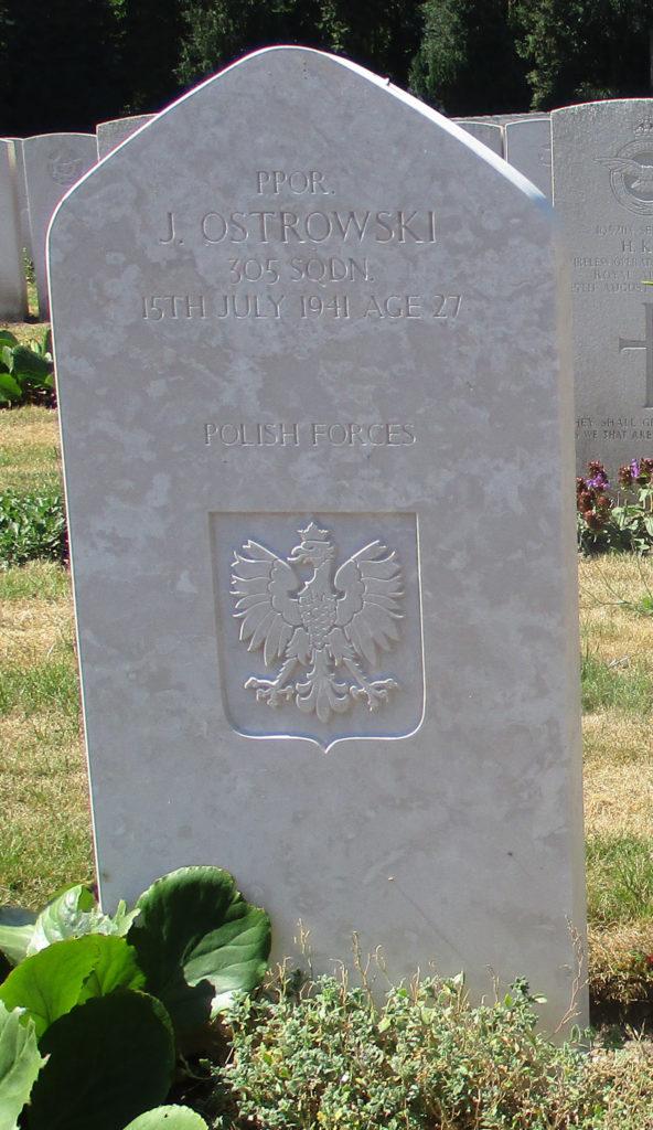 Becklingen. Podporucznik pilot Jan Ostrowski. Fot. G.Dąbrowski